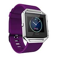 Punainen / Musta / Valkoinen / Vihreä / Sininen / Violetti Silikoni Soft Silicone Urheiluhihna Varten Fitbit Katsella 23mm