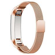 Czarny / Rose / Złoty / Srebrny Stal nierdzewna / Metal Metalowa bransoletka Na Fitbit Zegarek 10mm