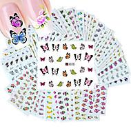 50PCS 다른 스타일 패션 꽃 패턴 네일 아트 물 전송 스티커
