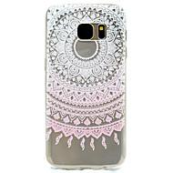 Voor Patroon hoesje Achterkantje hoesje Kanten ontwerp Zacht TPU Samsung S7 edge / S7 / S5 Mini / S5