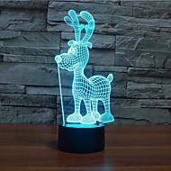 크리스마스 사슴 차원 주도 디밍 터치 야간 조명 7colorful 장식 분위기 램프 참신 조명 크리스마스 조명