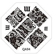 nail art stempel stempelen afbeelding template plaat q-serie