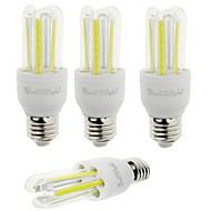 7W E26/E27 LED kukorica izzók T 6 COB 600 lm Hideg fehér Dekoratív V 4 db.