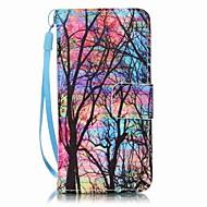 kleur boom het schilderen pu telefoon geval voor apple itouch 5 6