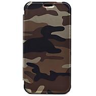 Voor Kaarthouder / Portemonnee hoesje Volledige behuizing hoesje Camouflage Kleur Hard PU-leer voor Samsung S7 edge / S7