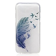For Ultratyndt Mønster Etui Bagcover Etui Fjer Blødt TPU for Samsung A3 (2017) A5 (2017)