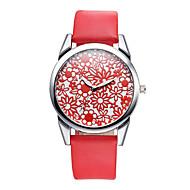V6 Damen Modeuhr Armbanduhren für den Alltag Quartz / PU Band Bequem Schwarz Braun Weiß Schwarz Gelb Rot orange Rot