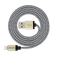 MFI 3m (10ft) pleciony kabel USB do synchronizacji i błyskawice opłata dla Apple iPhone 7 6s 6 plus se 5s 5c 5 PLUS / ipad powietrze / iPad Mini