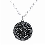 Muškarci Žene Ogrlice s privjeskom Jewelry Circle Shape Animal Shape Zmaj Legura Kružni dizajn Jedinstven dizajn Stil logoa Stil višenja