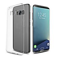 Para Ultra-Fina Transparente Capinha Capa Traseira Capinha Cor Única Macia TPU para Samsung S8 S8 Plus