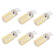 brelong dimbaar g9 / e27 6w 80 smd 5730 550-600 lm warm wit koel wit led lamp (110v / 220v) 6st