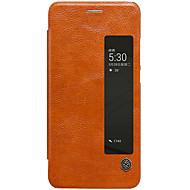 용 윈도우 자동 슬립/웨이크 기능 플립 케이스 풀 바디 케이스 단색 하드 인조 가죽 용 Huawei Huawei P10 Plus Huawei P10 화웨이 메이트 (9) 프로