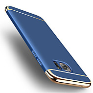 Voor samsung galaxys notitie 5 luxe 3 in 1 plating case achterkant behuizing vaste kleur harde pc