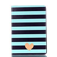 Til æble ipad mini 4 3 2 1 tilfælde cover stribet kærlighed mønster kort stent pu materiale flad beskyttelseskal