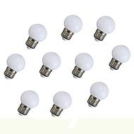 0.5W LED Λάμπες Σφαίρα 6 135 lm Πορτοκαλί V 10 τμχ