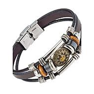 Heren Lederen armbanden Sieraden Natuur Kostuum juwelen Modieus Leder Legering Sieraden Voor Speciale gelegenheden  Sport