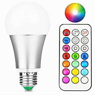 12W Smart LED-lampe A60(A19) 15 Integreret LED 800-900 lm Varm hvid RGB Dæmpbar Fjernstyret Dekorativ V 1 stk.