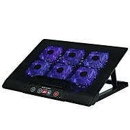 حامل قابل للتعديل قابلة للطى أجهزة الكمبيوتر المحمول الأخرى ماك بوك لابتوب الوقوف مع مروحة التبريد معدن