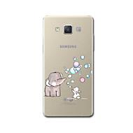 Samsung a8 a7 (2017) kotelo kattaa läpinäkyvä kuvio takakansi sarjakuva elefantti soft tpu samsung a3 (2017) a5 (2017)