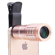 universell 10 × teleskop lins för mobiltelefoner iphone / samsung silver / guld / Rose / svart