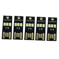 0.5W Smart LED-lampe 3 SMD 65 lm Varm hvid Hvid Dekorativ Jævnstrøm5 V 5 stk.