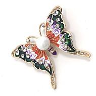 Naisten Rintaneulat Strassi Eläin Metalliseos Animal Shape Butterfly Korut Käyttötarkoitus Party Päivittäin Kausaliteetti Iltajuhlat
