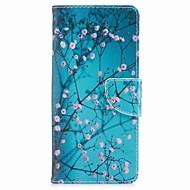 hoesje voor Samsung Galaxy Note 8 Bloemkaarthouder Pu Portemonnee Leather Card Bag met patroon