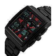 Heren Dames Sporthorloge Militair horloge Polshorloge Digitaal horloge Japans Kwarts LED Kalender Chronograaf Waterbestendig Dubbele