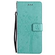 voor case cover kaarthouder portemonnee met tribune flip patroon volledige body hoesje kat boom hard pu leer voor samsung noot 8 noot 5