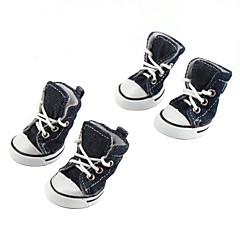 애완견용 캐주얼 데님스타일 신발 (XS-XL, 여러색상)