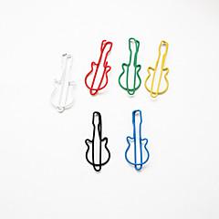gitár mintás műanyag csomagolva gémkapocs (10db véletlenszerű szín)