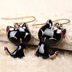 Naisten Pisarakorvakorut söpö tyyli pukukorut Hartsi Metalliseos Animal Shape Cat Korut Käyttötarkoitus Päivittäin