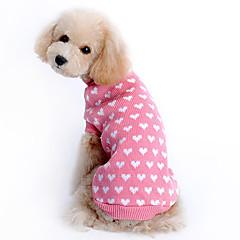 katten / honden Truien Roze Hondenkleding Winter Harten Houd Warm