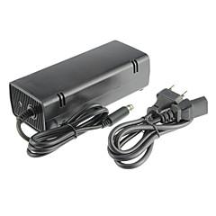 xbox 360e AC-adapter (us plug) bekabelde zwart plastic 1 adapter, 1 kabel