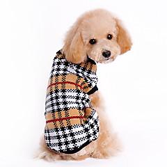 katten / honden Truien Bruin Hondenkleding Winter / Lente/Herfst Geruit Klassiek / Houd Warm