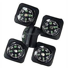 PU Deri Watch Eklenti Tasarımı ile 20mm Açık Survival Mini Pusula - Siyah (5 adet)