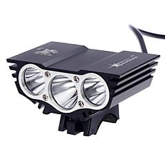 Czołówki LED 3000 Lumenów 3 Tryb Cree XM-L2 T6 Tak Akumulator Wodoodporne Superlekkie Niewielki rozmiar Mały rozmiar na