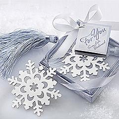 Aranyos Hollow hópehely bojt 6,5 * 6,5 * 1 Fém Bookmarks & Clips (Silver, 1db)