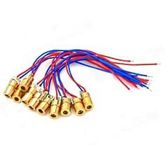 5mW 650nm Bakır Yarıiletken Lazer Nokta Diyot Head Set - Kırmızı + Mavi + Altın (10 ADET)