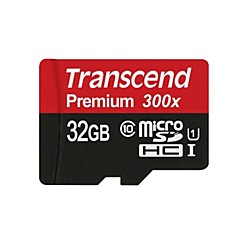 transcend 32Gb Micro SD Card TF Card geheugenkaart UHS-I U1 Class10 Premium 300X