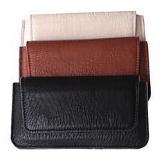 ensfarvet pu læder dermatoglyph almindelig talje hængt mobiltelefon taske til Samsung Galaxy S5 og andre (assorterede farver)