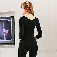 lage ronde hals dunne sleeve naadloze lichaam shapers ondergoed abdominale krullen zwarte ny035