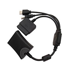 ps2 til Xbox 360 ps3 controller konverter kabel ledning til PS3 Microsoft Xbox 360
