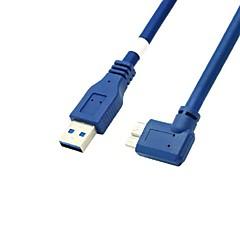 Mikro usb 3.0 erkek kablo 0.6m 2ft usb 3.0 erkek