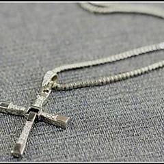 Heren Hangertjes ketting Kruisvorm Titanium Staal Legering Movie Jewelry Kostuum juwelen Sieraden Voor Dagelijks Causaal Sport