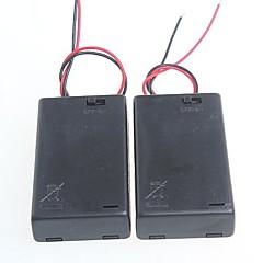 3 csomag normál kapcsolóval akkumulátor doboz AA elem 4.5V