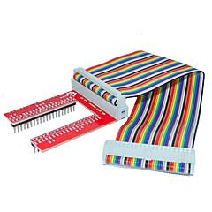 frambozenpastei 3 gpio uitgebreid diy kit (40p + GPIO v2 rainbow lijn)