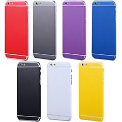 teljes test oldalán + top + hátsó + gombot tiszta szín bőr matrica iPhone 6 plus (vegyes színek)