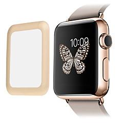 link drøm premium 0,2 mm ægte hærdet glas med fuld dækning metal kant beskyttelses film til Apple ur (42mm)