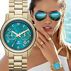 Mulheres Relógio de Moda Quartzo Calendário Lega Banda Luxuoso Dourada Preto Rosa Rosa claro Azul Claro Azul Real